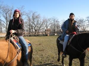 Una volta tanto presidente e tesoriere a cavallo insieme