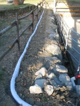 Un particolare del tubo di drenaggio