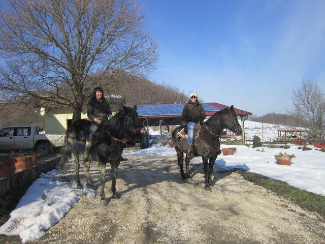 Sacha e Jessica in partenza