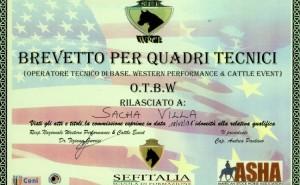 L'ultimo brevetto di Sacha, conseguito questa settimana