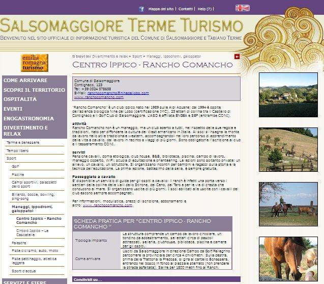 La nuova scheda su di noi nel sito Turistico di Salsomaggiore